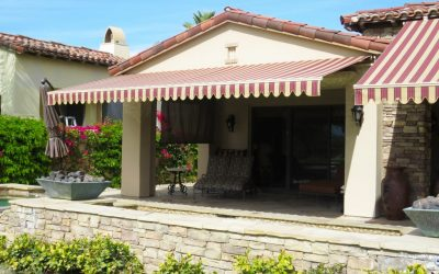 Striped Awning Palm Springs