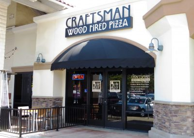 Craftsman Wood Fired Pizza Restaurant Awning