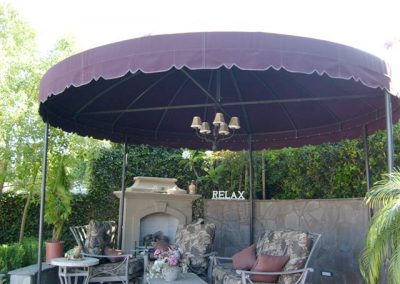 Round Freestanding Canopy Backyard Sitting Area
