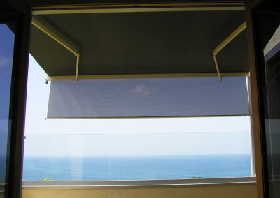 Sun Screens on Beach House Balcony