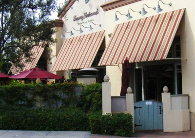 Striped Commercial Awning