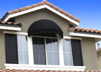 Black Second Story Window Awning