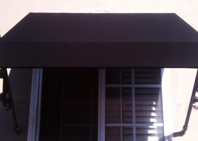 Black Spear Window Awning