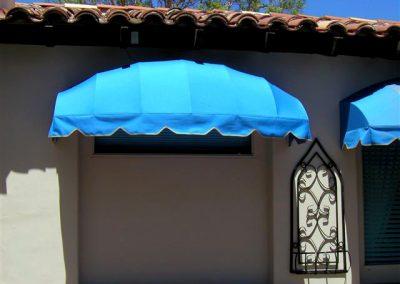 Bright Blue Window Awning