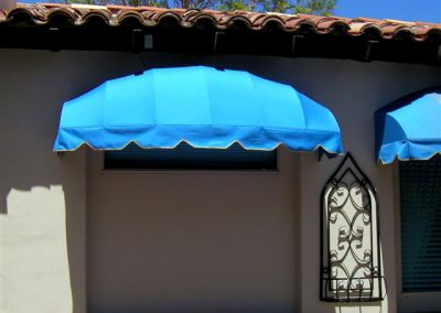 Bright BlueAwning Over Window