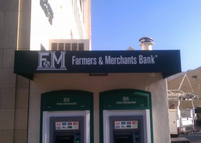 Green ATM Awning with Logo