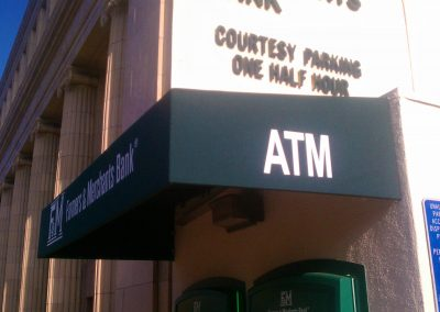 Green ATM Awning