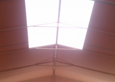 Tan Awning with Skylight