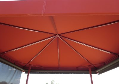 Orange Canopy with Screens