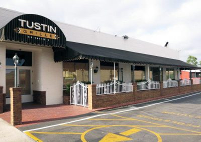 Black and White Striped Restaurant Awnings
