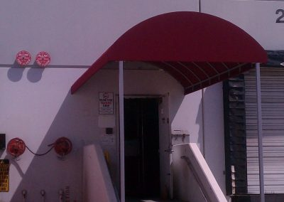Red Rear Entrance Awning