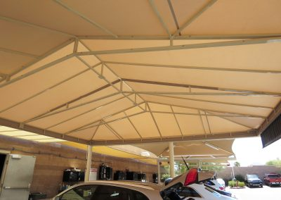 Tan Parking Space Awnings