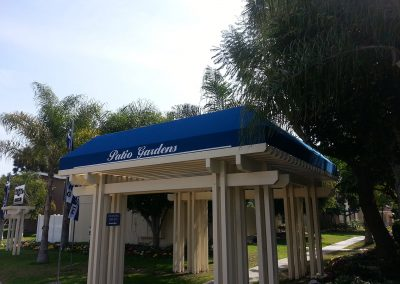 Blue Wooden Gazebo Awning