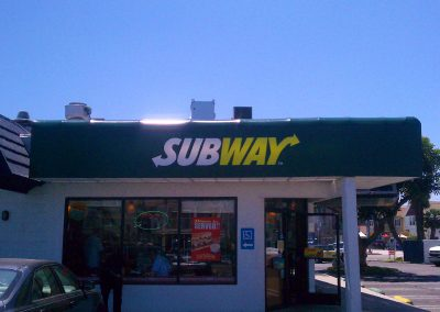 Green Restaurant Awning Subway