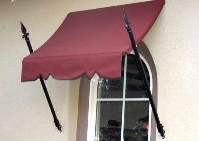 Maroon Spear Window Awning