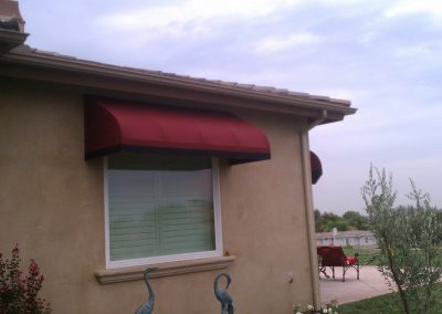 Red Window Awning