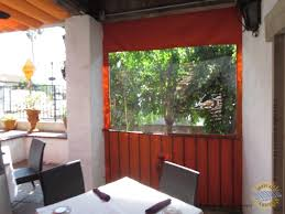 Restaurant Patio Drop Shade