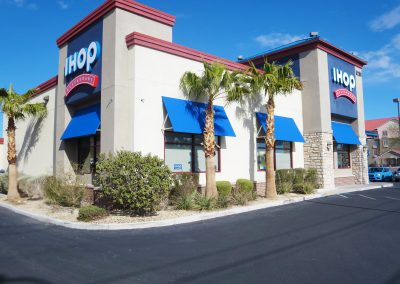 IHOP Restaurant Awnings Over Windows
