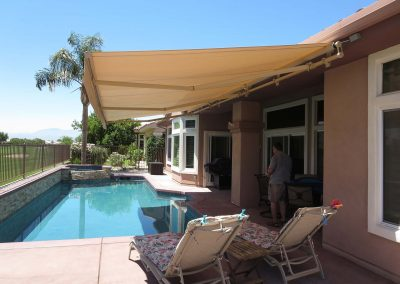 Retractable Awning Over Pool