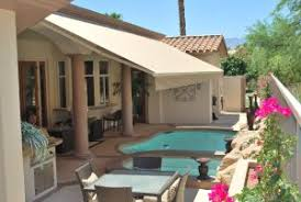 Retractable Awning over pool in Palm Springs