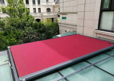 Red Skylight Awning