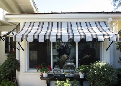 Striped Spear Awning Newport Beach