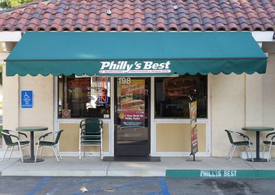 Green Retractable Awnings at Philly's Best